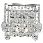Hanna 3 Wall Light in Polished Chrome with Crystal Drops - SEARCHLIGHT 5402-2CC